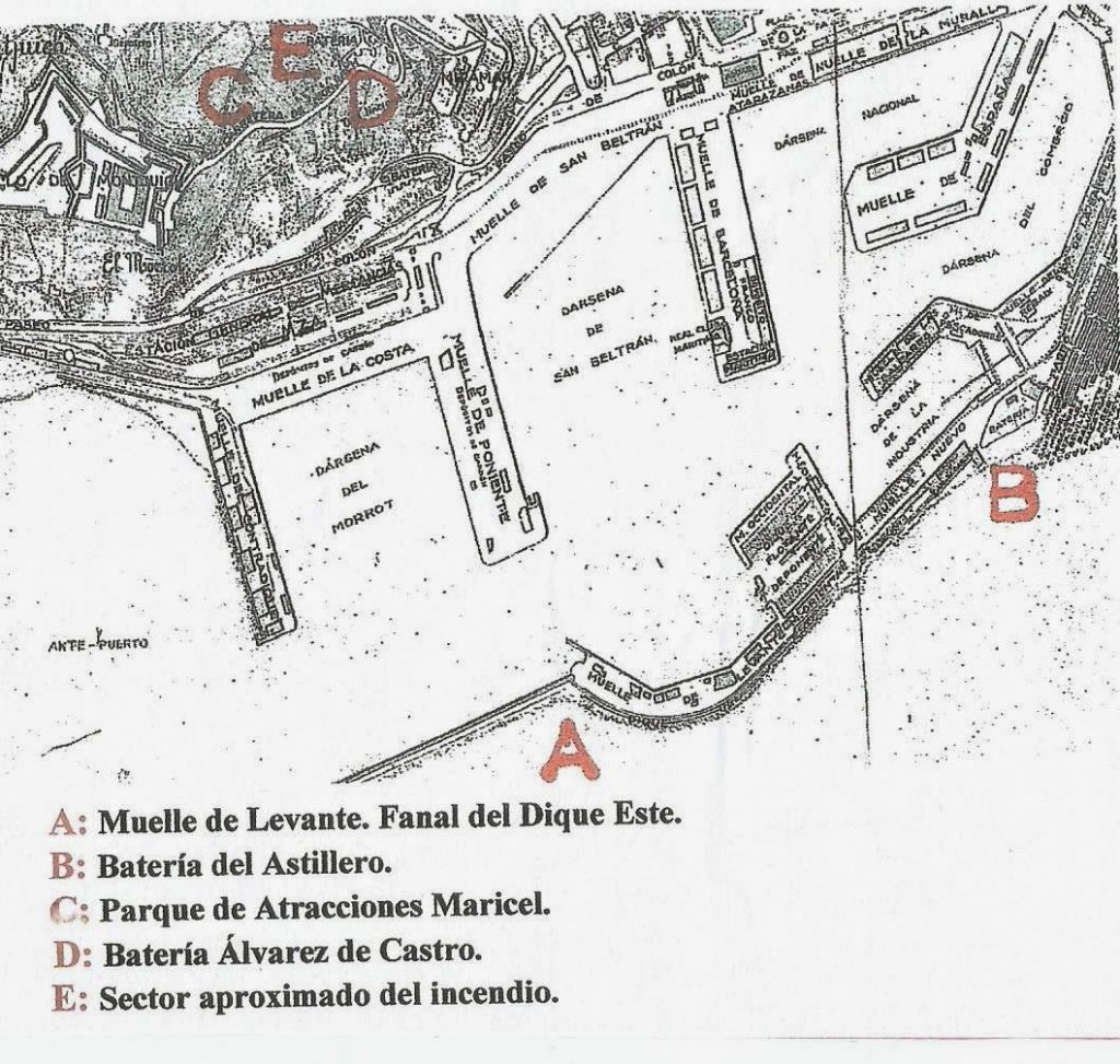 plano puerto barcelona