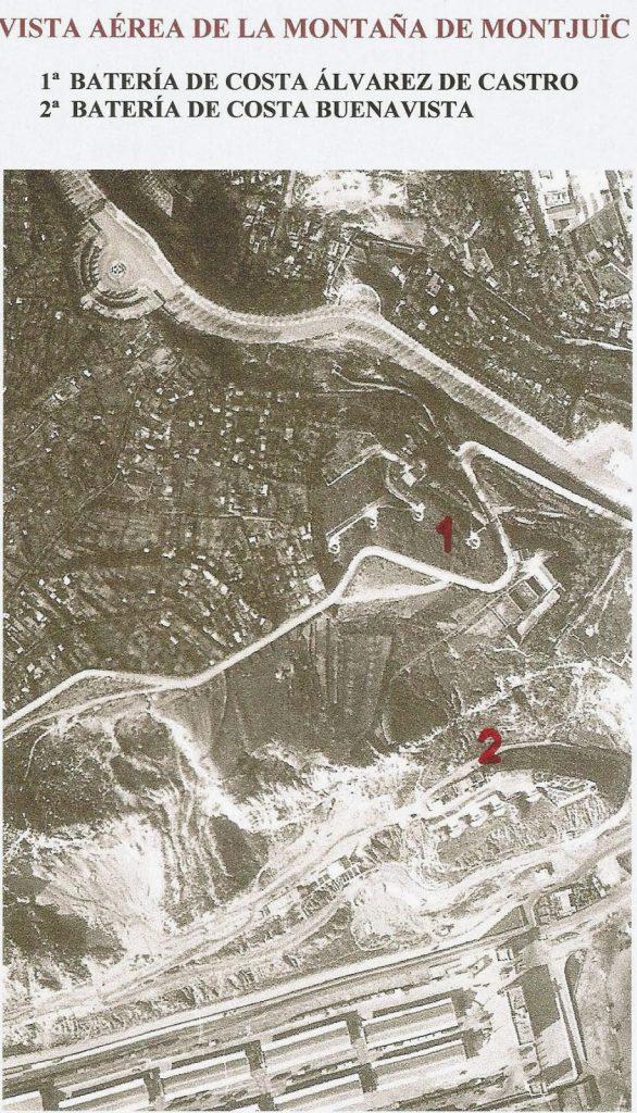 vista area montaña de montjuic