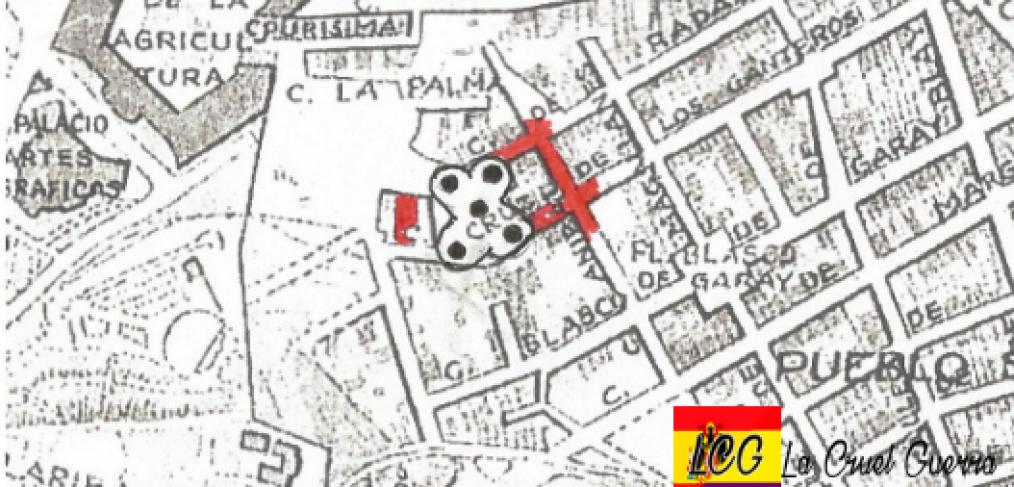 zona afectada bombardeo barcelona